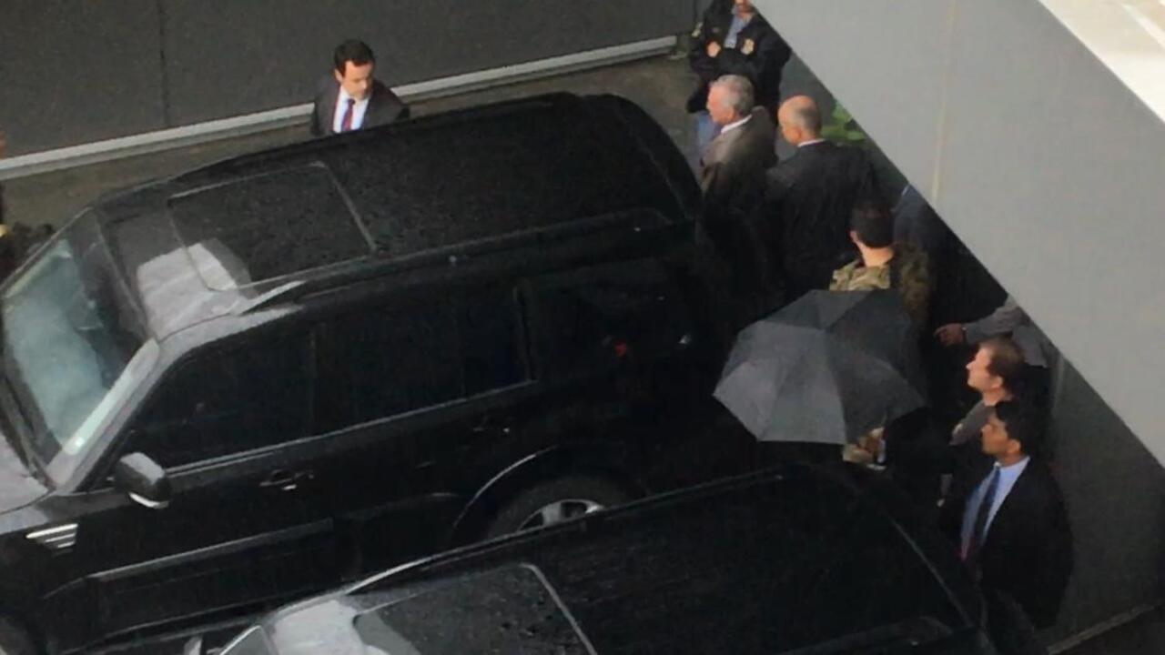 Michel Temer deixa delegacia da PF no Aeroporto de Guarulhos e segue para o Rio de aneiro