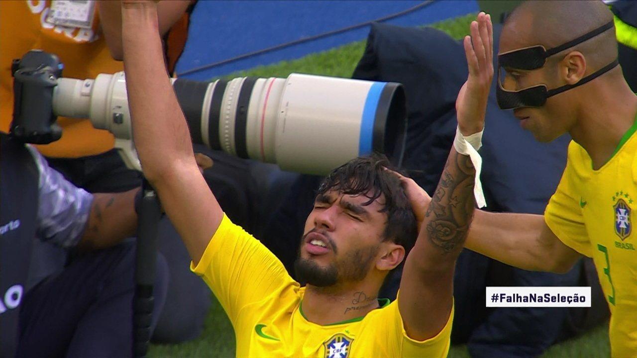 Gol do Brasil! Paquetá desvia cruzamento, aos 31' do 1ºT