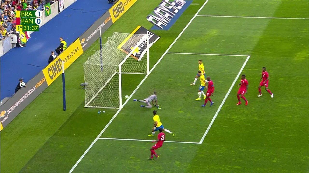 Os gols de Brasil 1 x 1 Panamá em amistoso da seleção