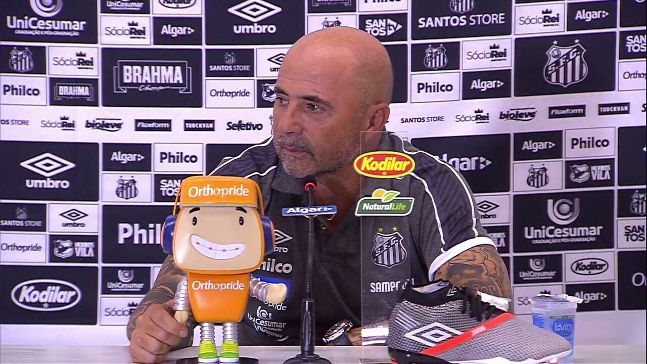 Santos 2 x 0 RB Brasil: veja a coletiva de Sampaoli