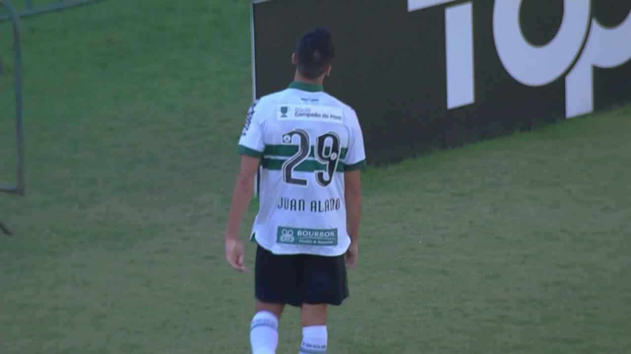 Juan Alano perde grande oportunidade para o Coritiba