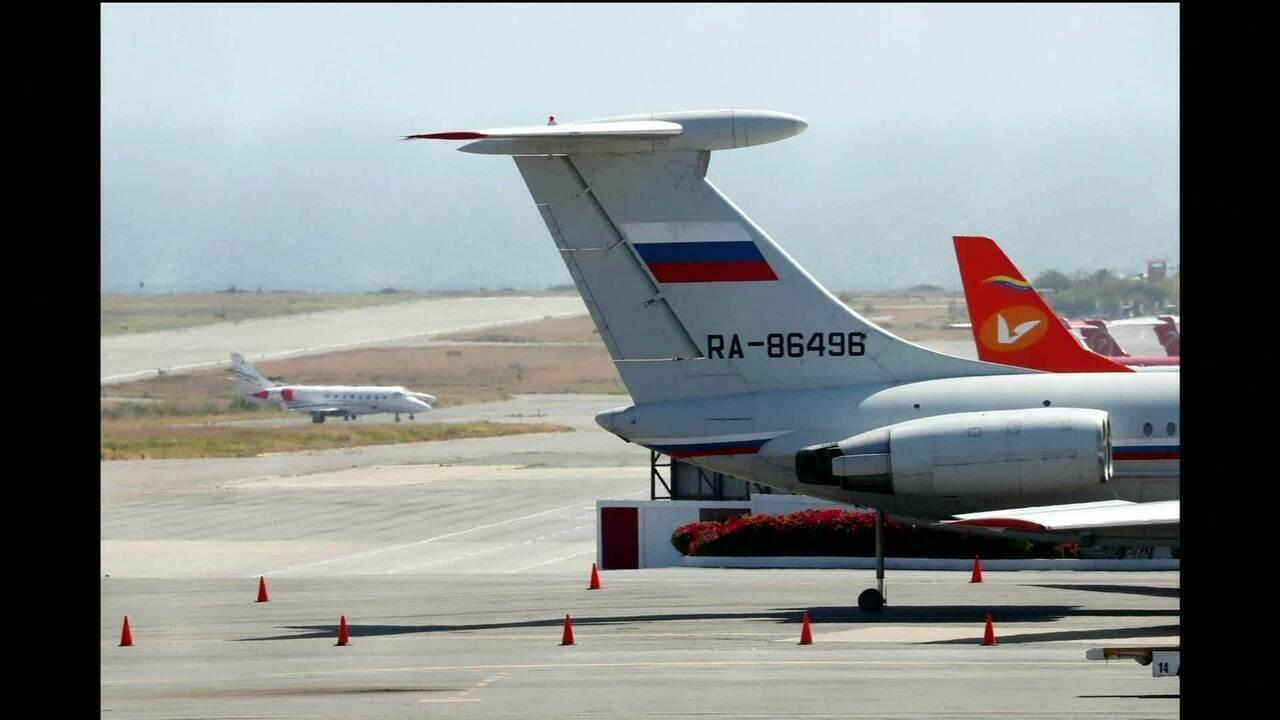 Aviões militares russos chegam à Venezuela com soldados