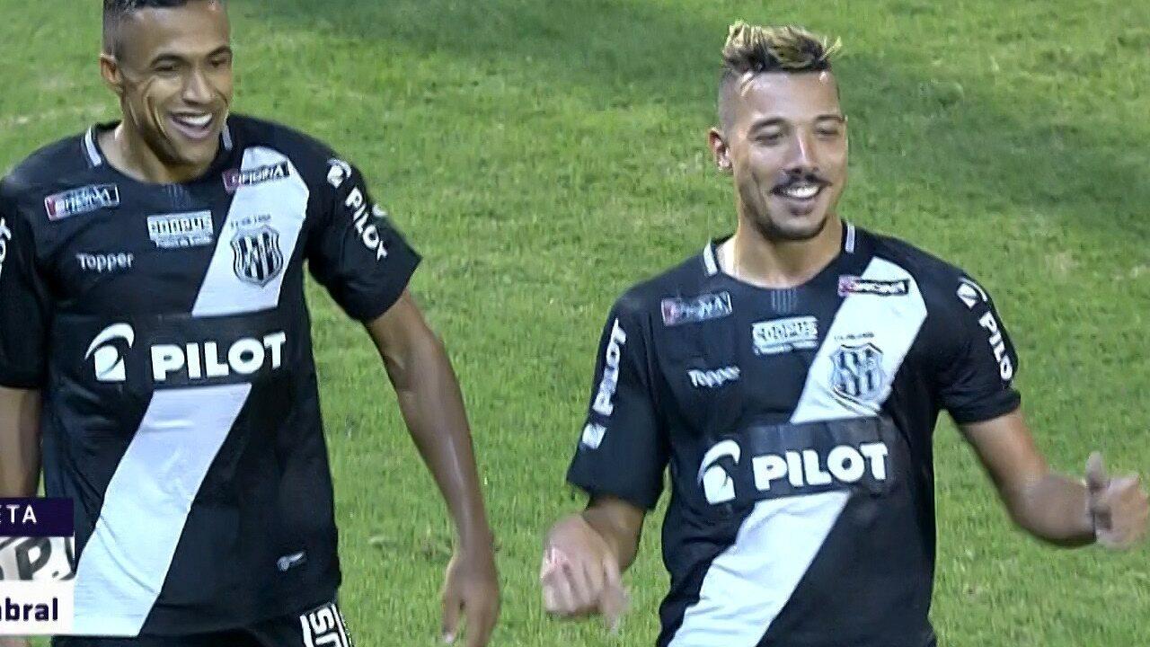 GOL DA PONTE PRETA! Hugo Cabral marca contra o Bragantino