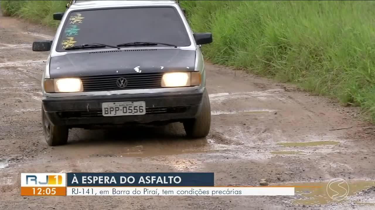 RJ-141 tem condições precárias em Barra do Pirai