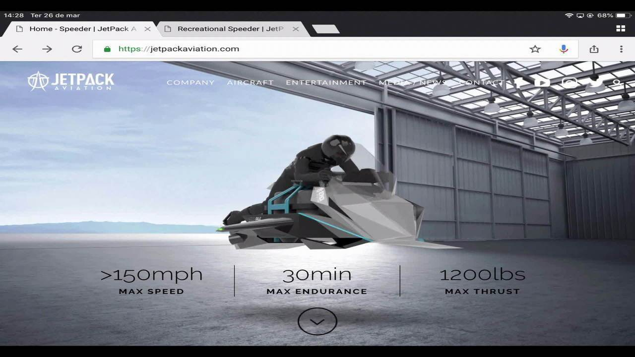 Fabricante anuncia a pré-venda de moto-drone por US$ 380 mil
