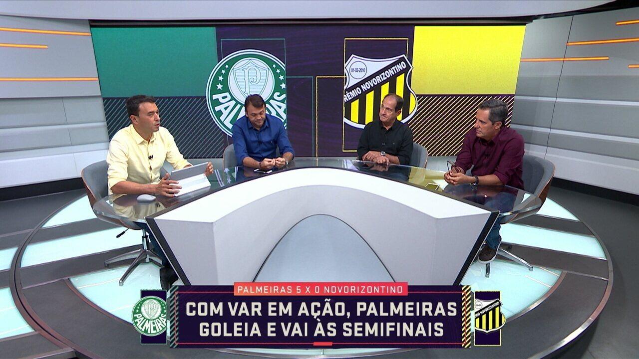 Comentaristas analisam o lance de agressão de Felipe Melo nas quartas de final