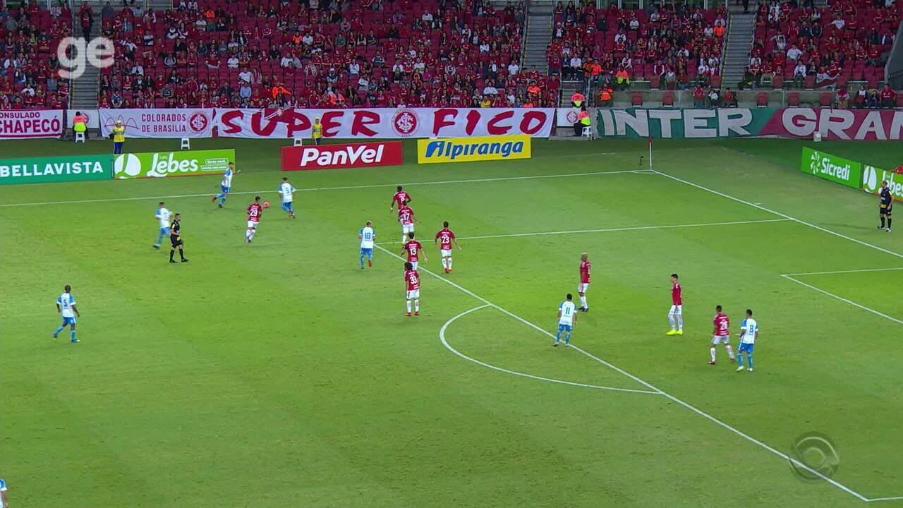 Confira os melhores momentos entre Internacional 0x1 Novo Hamburgo