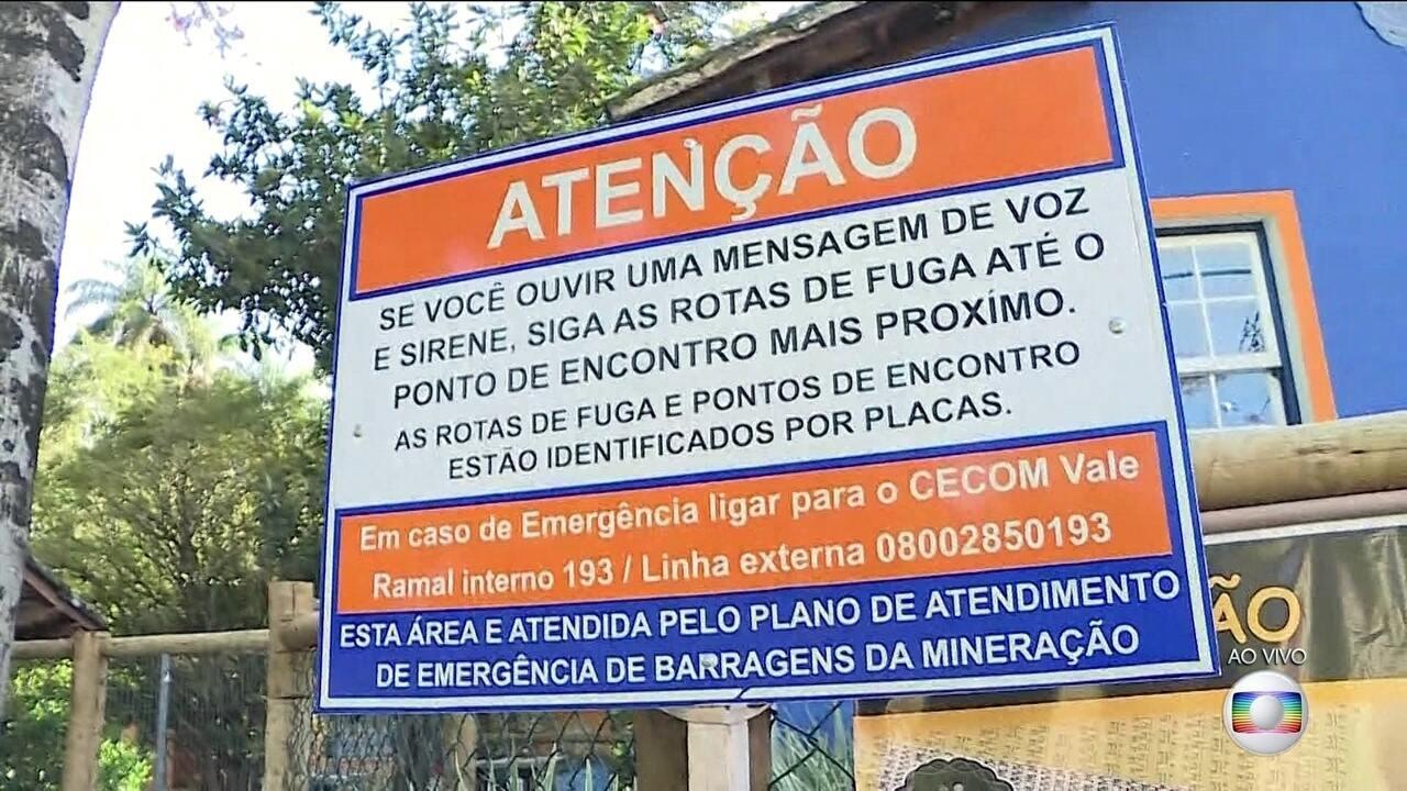 Três barragens de Vale, em Minas Gerais, entram em alerta máximo