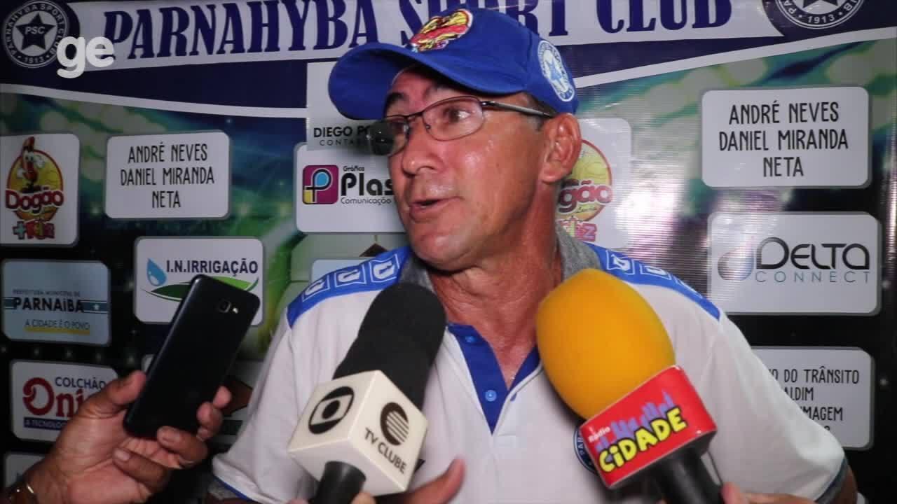 Aroldo Moreira festeja vitória que classificou o Parnahyba à semifinal do Piauiense 2019