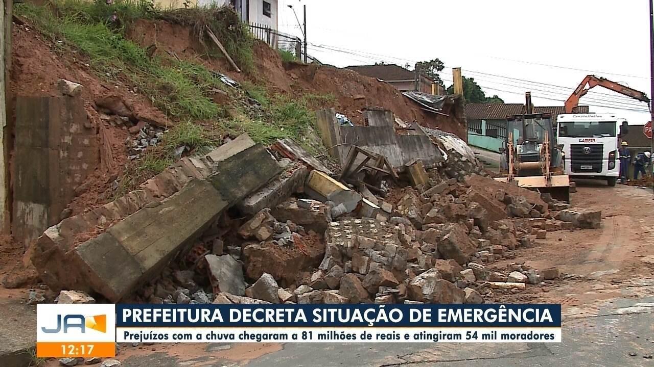 Prefeitura de Joinville decreta situação de emergência