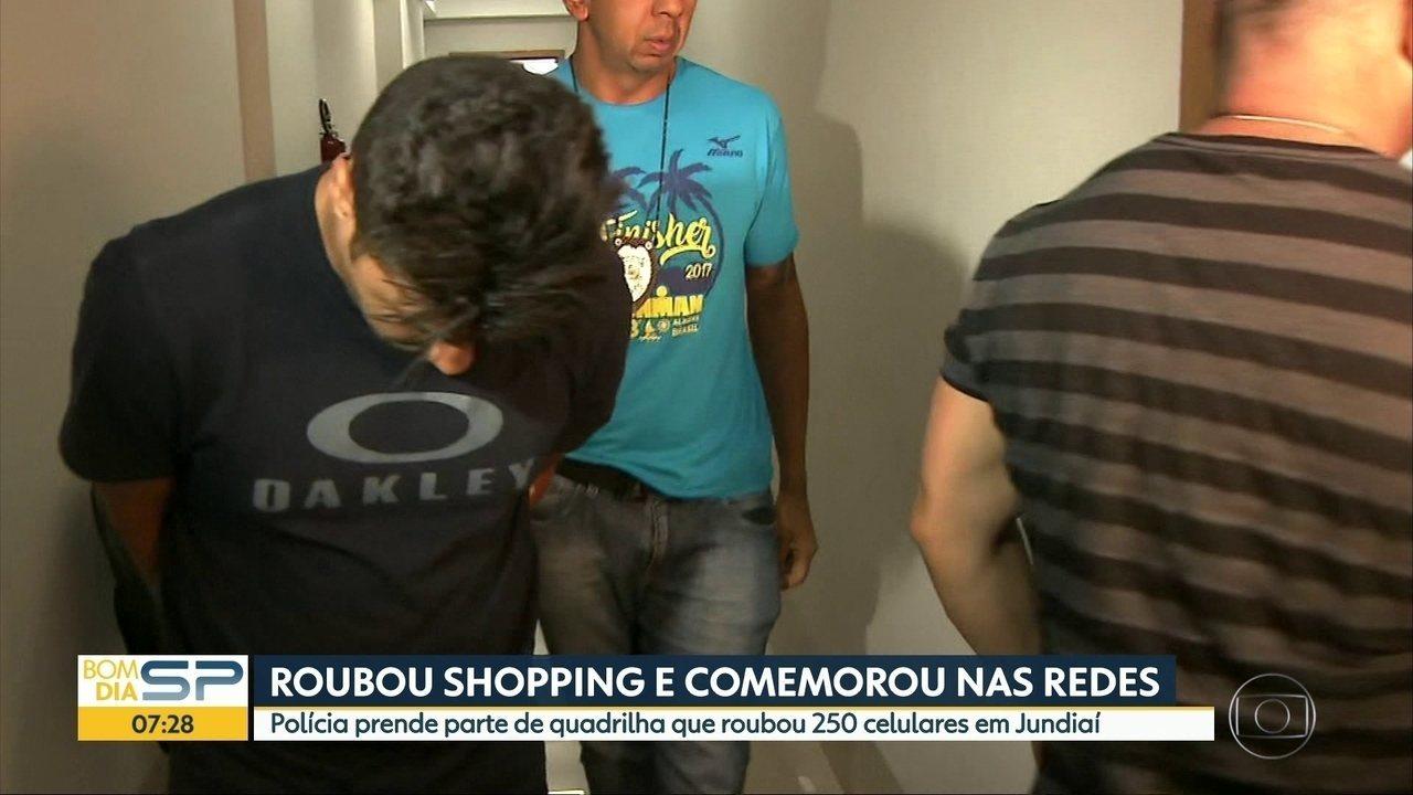 Polícia prende parte de quadrilha que roubava celulares e depois comemorava nas redes