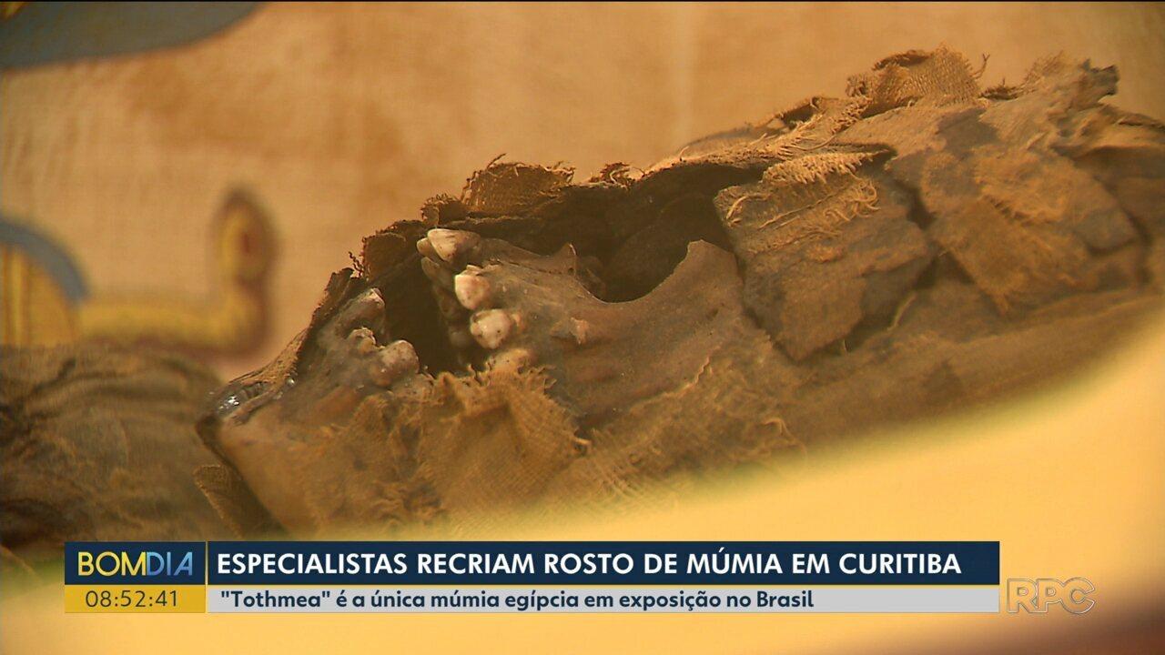 Especialistas recriam rosto da única múmia em exposição no Brasil