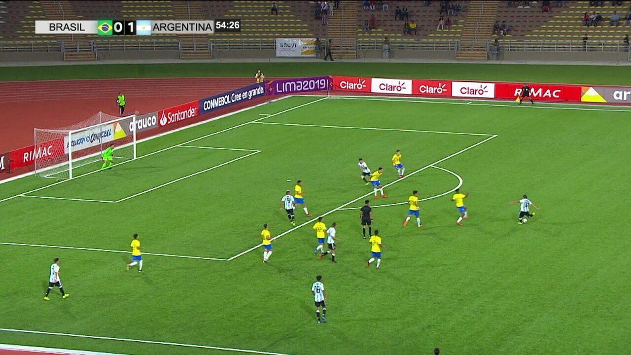 Brasil perde para a Argentina e está fora do Sul-Americano sub-17