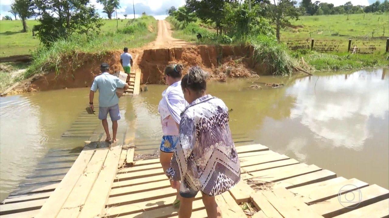 Após rompimento de barragens em Rondônia, 350 pessoas seguem isoladas