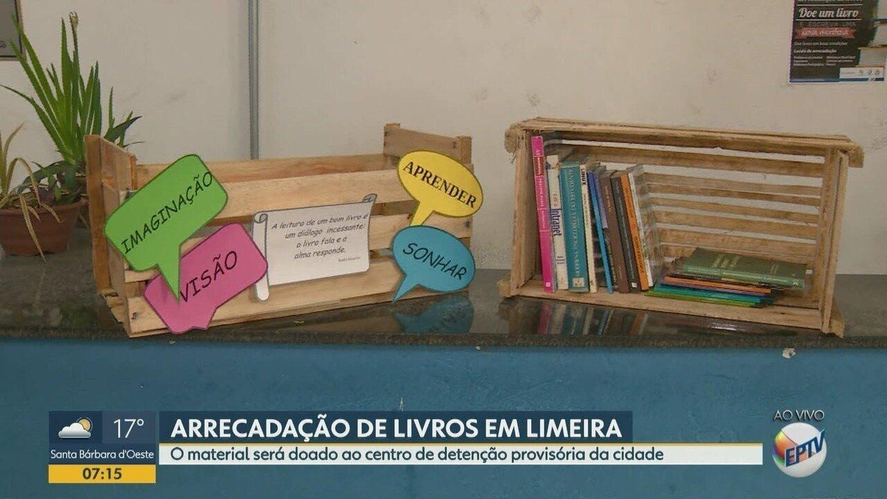 Limeira faz arrecadação de livros para doação ao Centro de Detenção Provisória