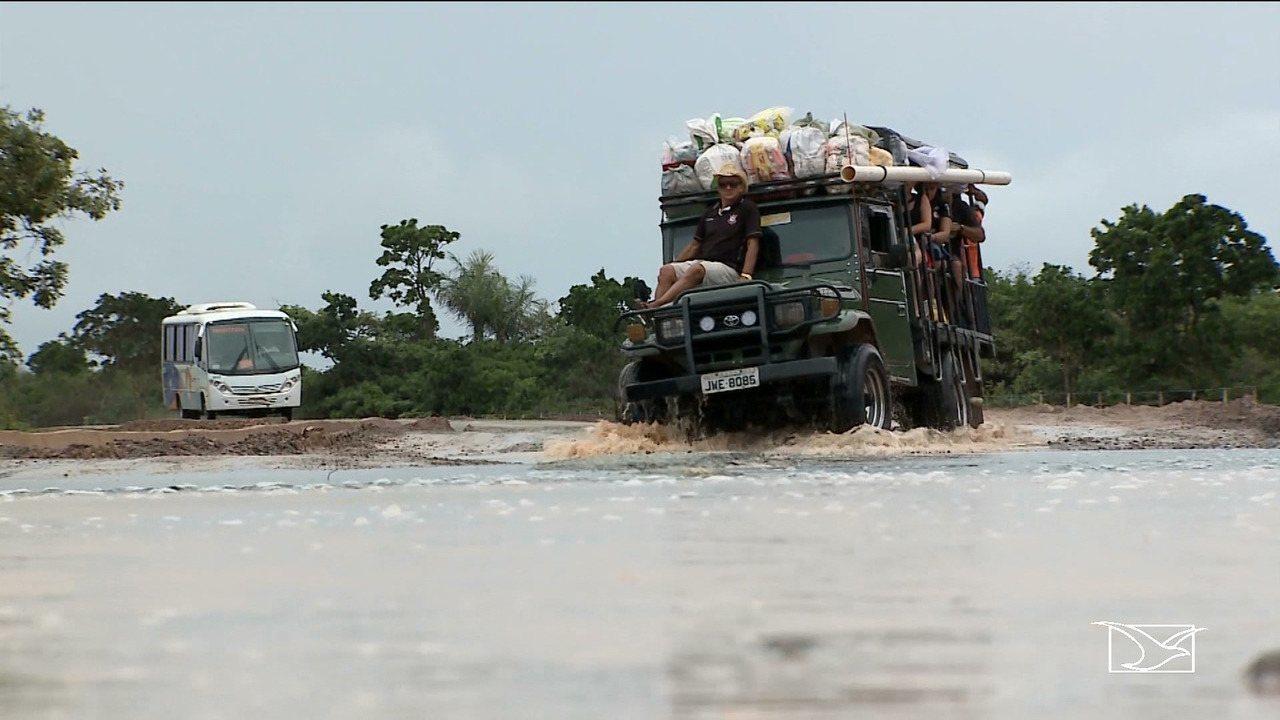 Recém-inaugurada, estrada apresenta problemas infraestruturais no Maranhão