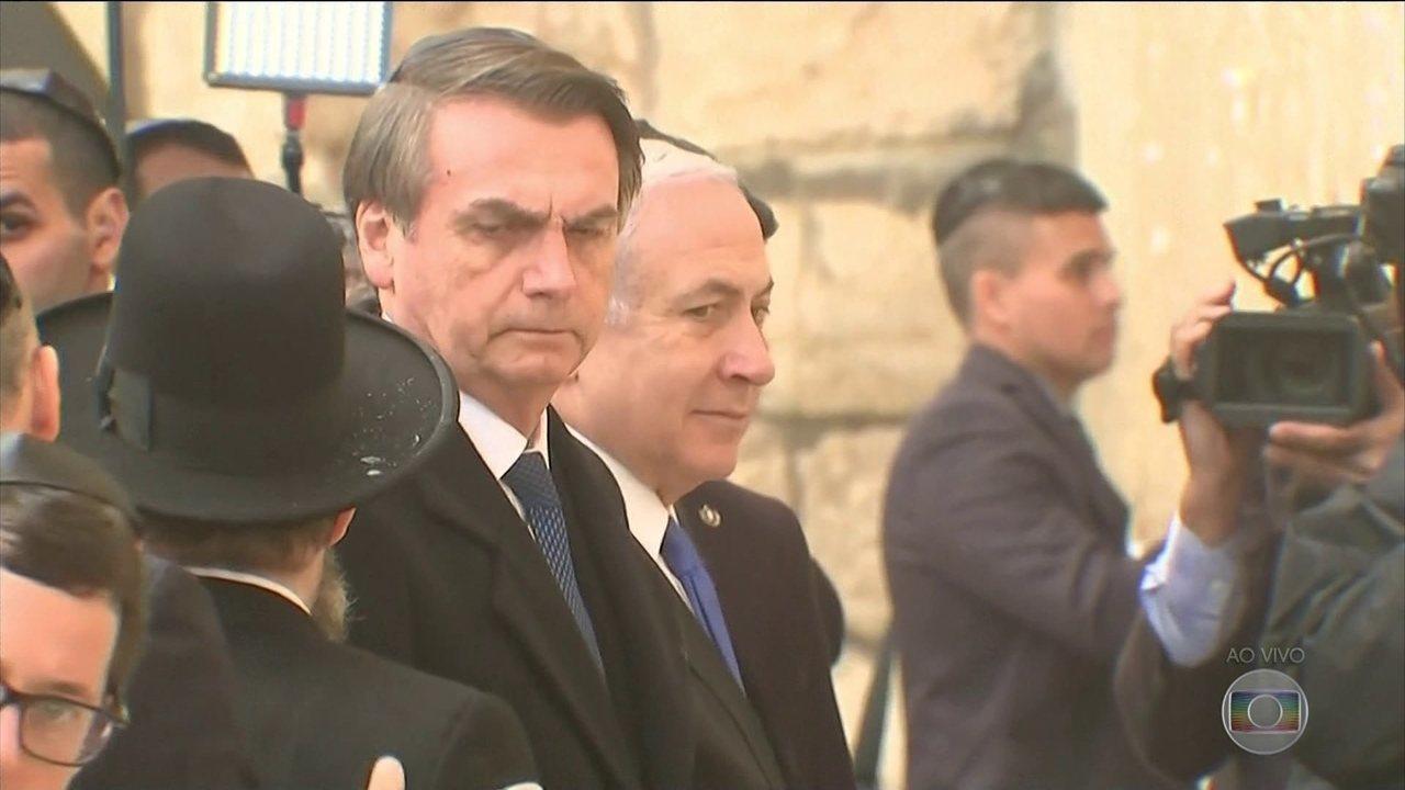 Jair Bolsonaro fala a empresários no terceiro dia de visita a Israel