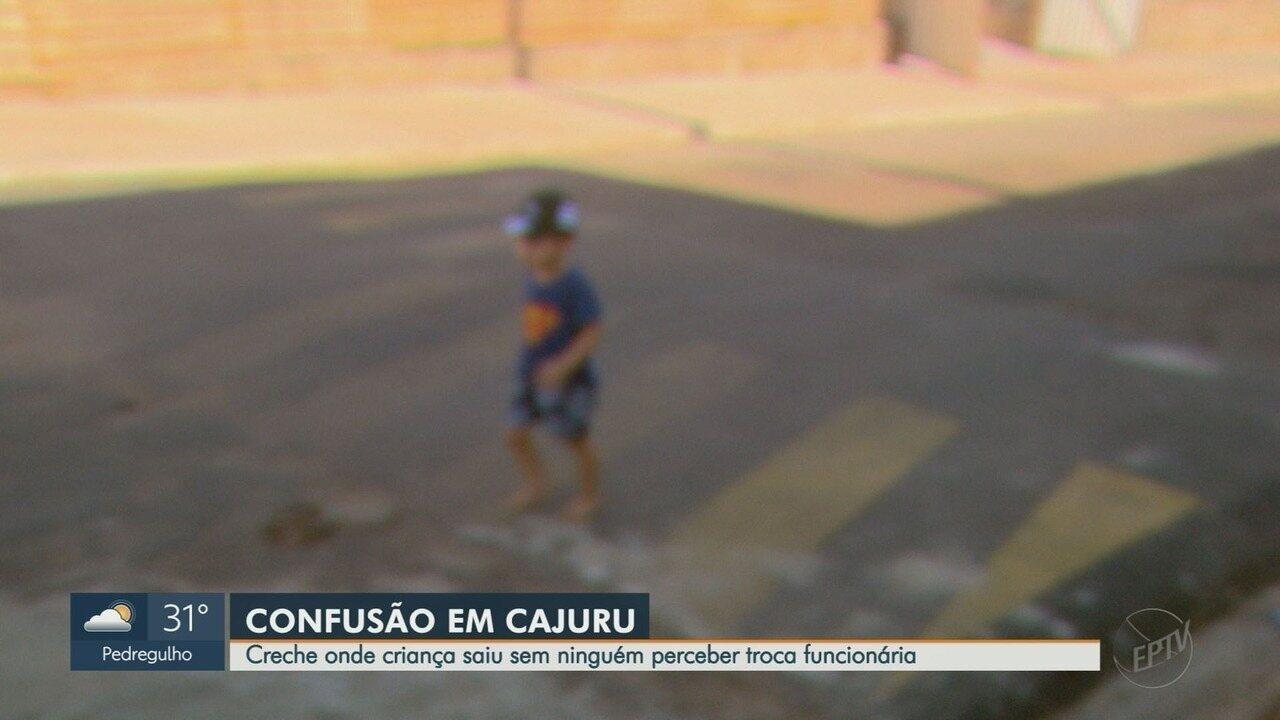 Creche troca funcionária que deixou criança de 2 anos sair pelas ruas de Cajurú, SP