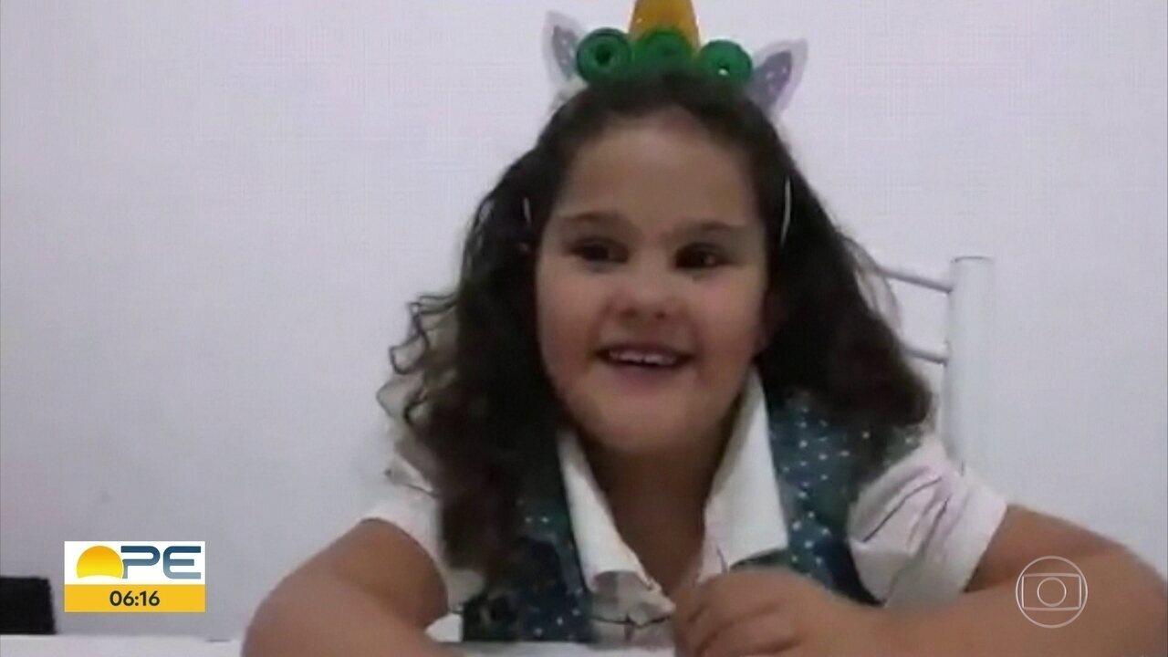 Menina é transferida de Natal para o Recife para transplante de coração