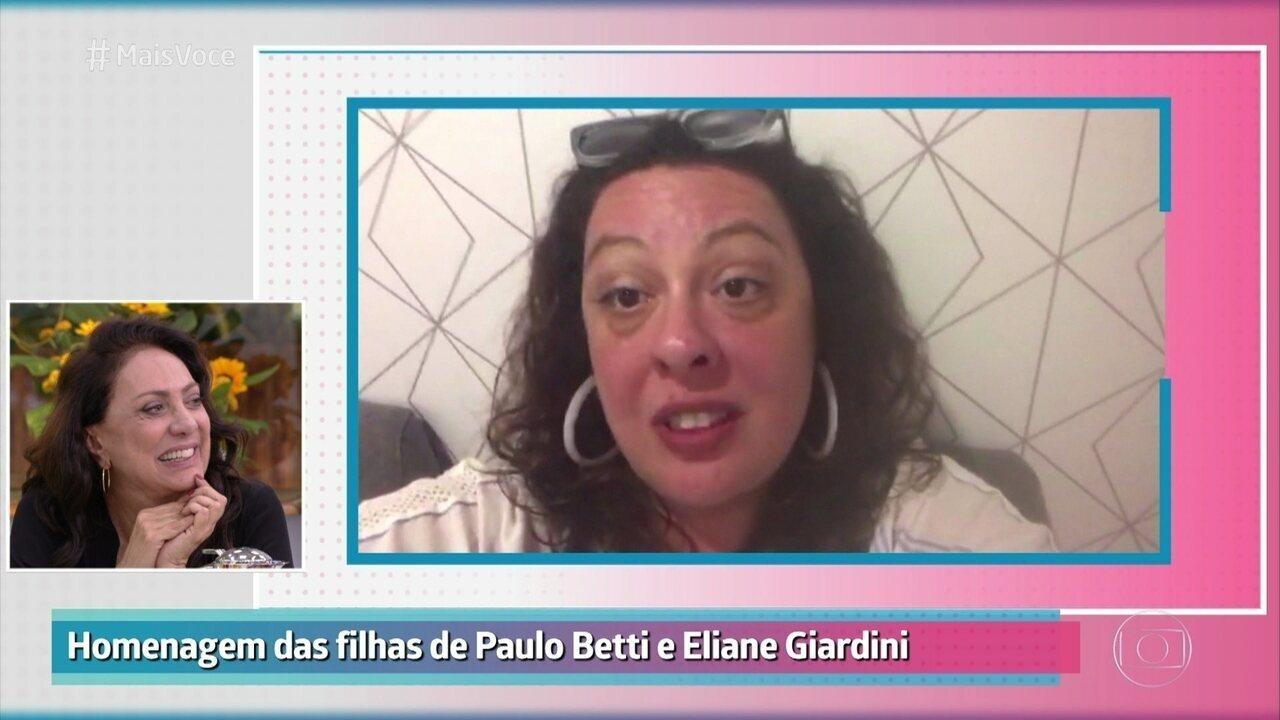 Filhas homenagearam Paulo Betti e Eliane Giardini