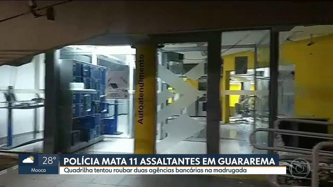 Tentativa de roubo a dois bancos deixa a madrugada tensa em Guararema