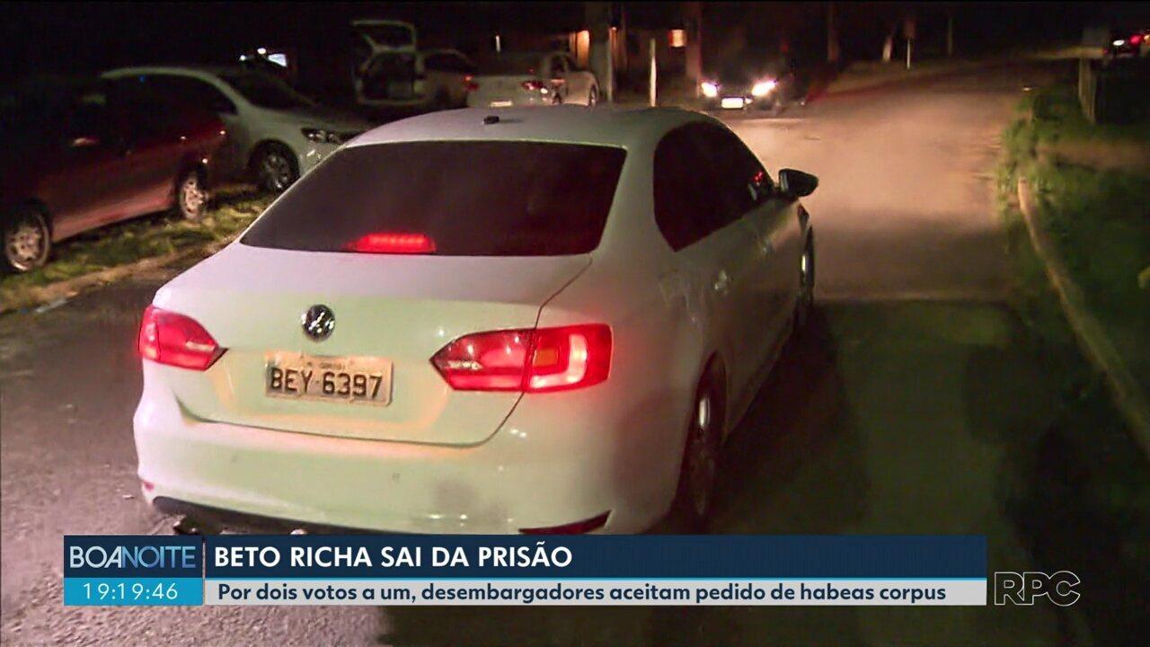 Ex-governador Beto Richa sai da prisão