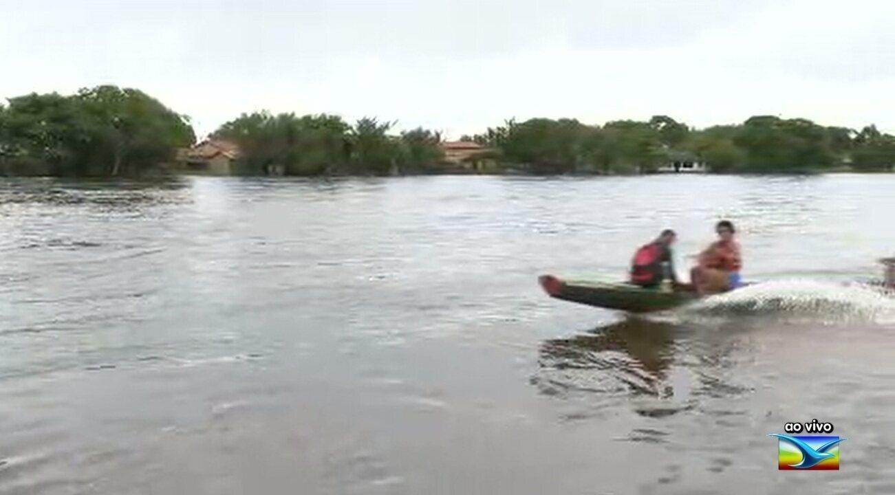 Nível do Rio Pindaré sobe durante chuvas no Maranhão