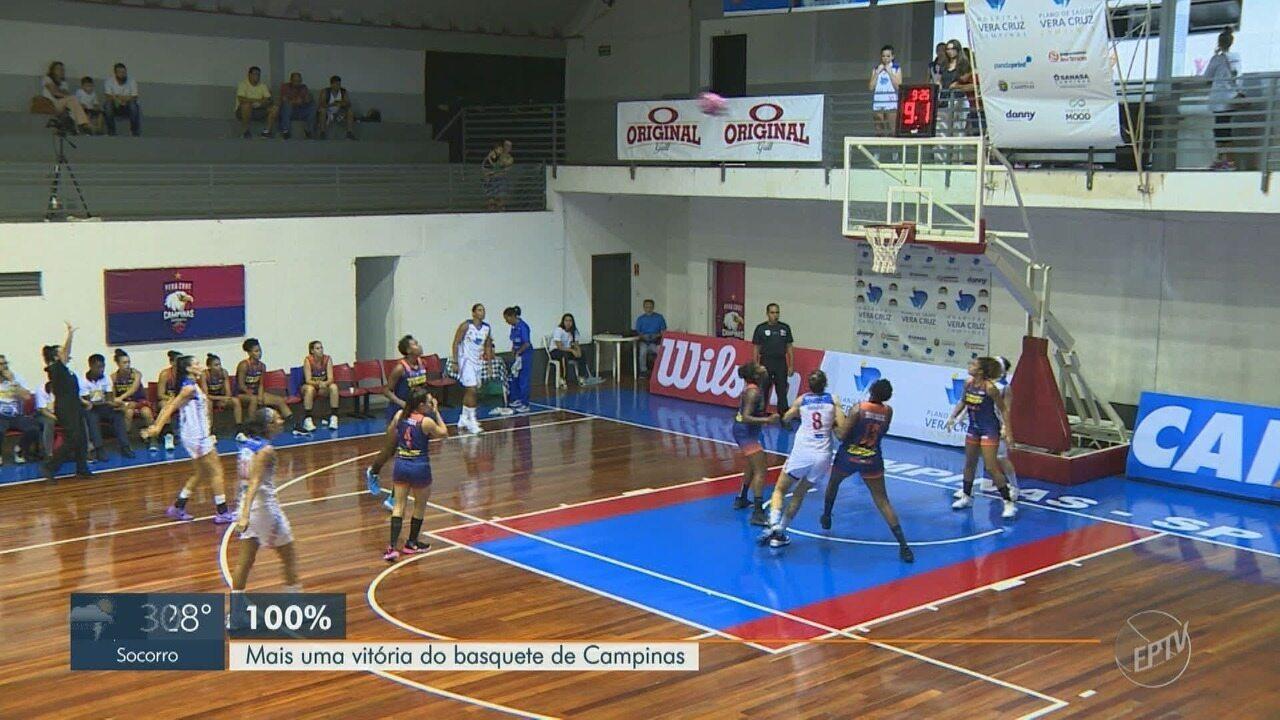 Basquete feminino de Campinas conquista sua quarta vitória consecutiva