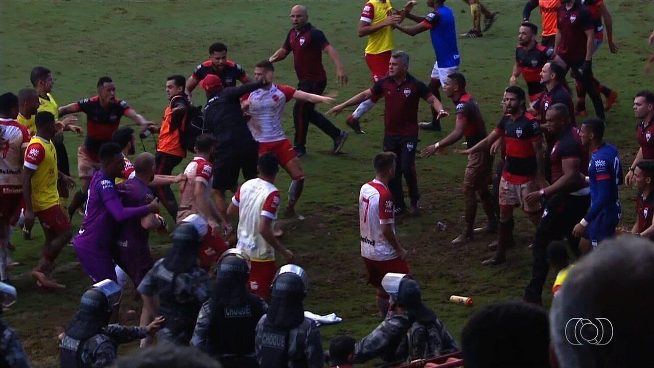Briga entre jogadores e comissão técnica de Atlético-GO e Vila Nova mancha semifinal