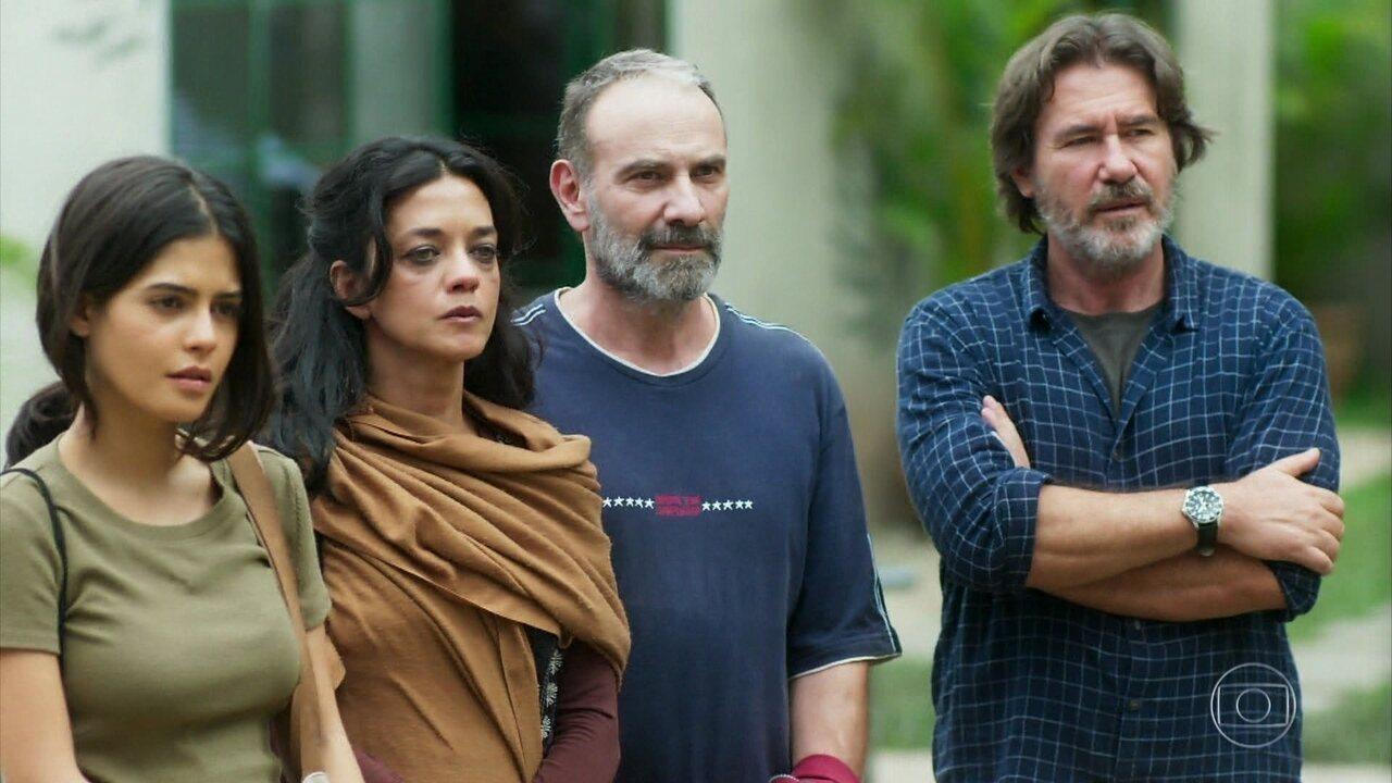 Elias, Missade e Laila se encantam com o centro de acolhimento do Padre Zoran