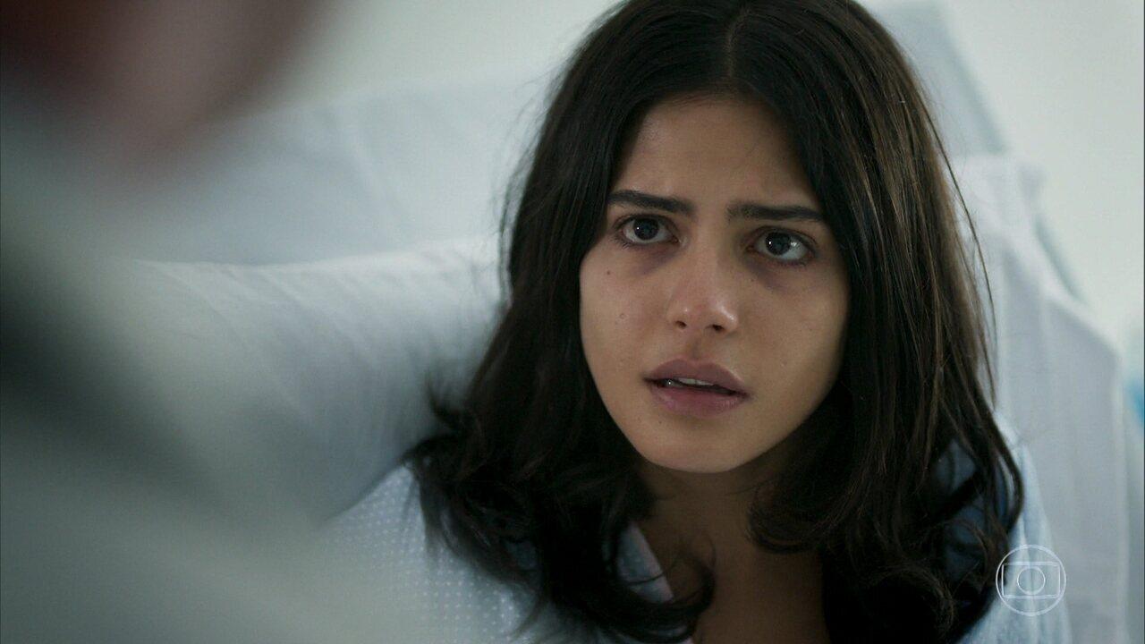 Laila se desespera com a notícia da gravidez