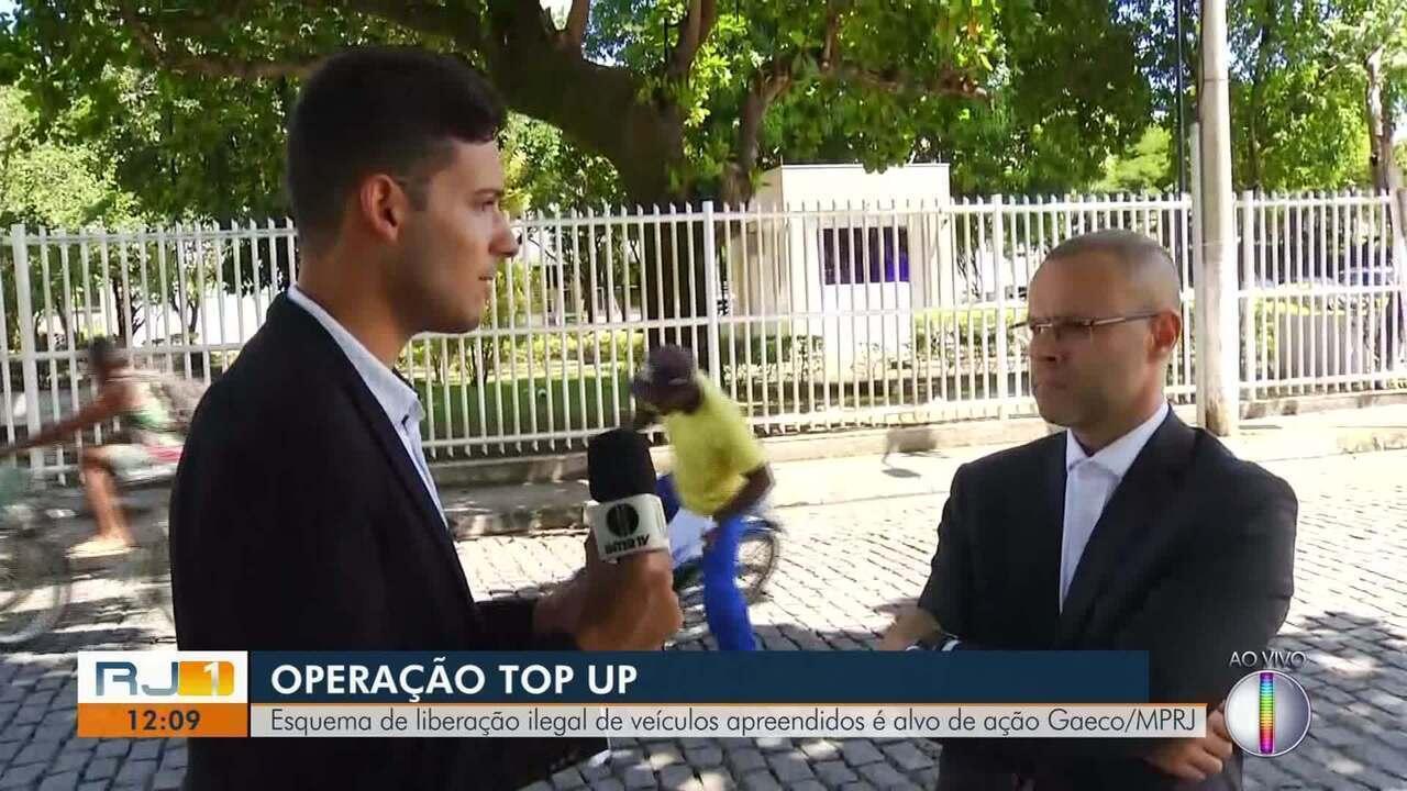 Promotoria do Gaeco fala sobre esquema ilegal em depósito de veículo no RJ