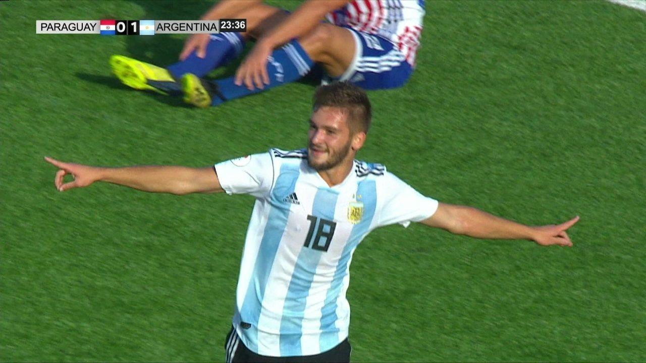 Os gols de Paraguai 0 x 3 Argentina pelo hexagonal final do sul-americano sub-17