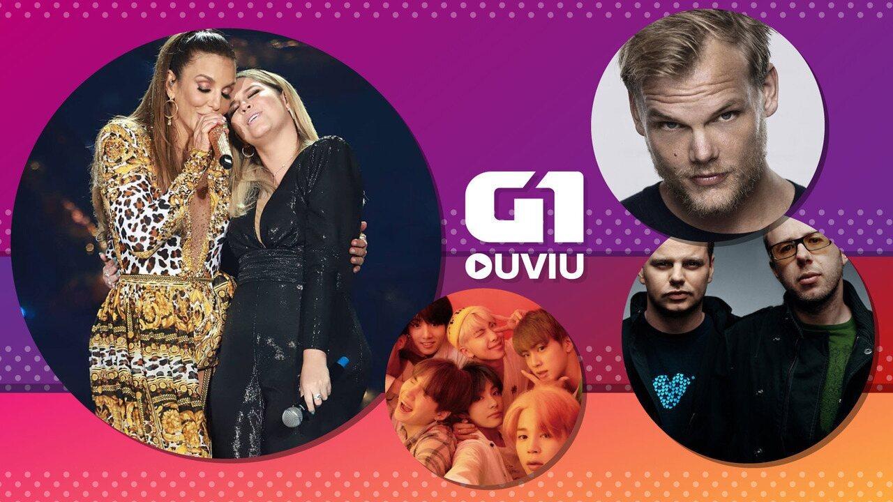 Avicii, BTS com Halsey, Ivete com Marília Mendonça: G1 Ouviu tem eletrônica e pop