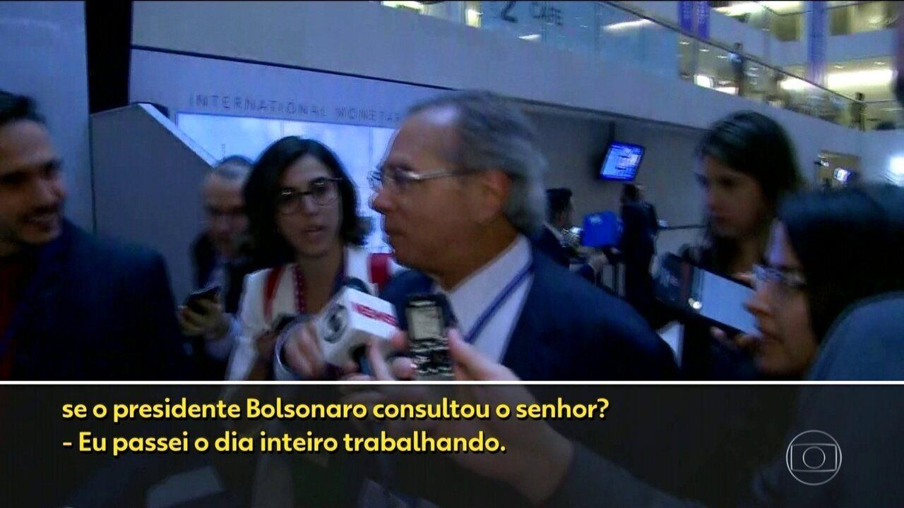 'Não tenho informação suficiente', diz Paulo Guedes sobre veto de Bolsonaro ao reajuste do