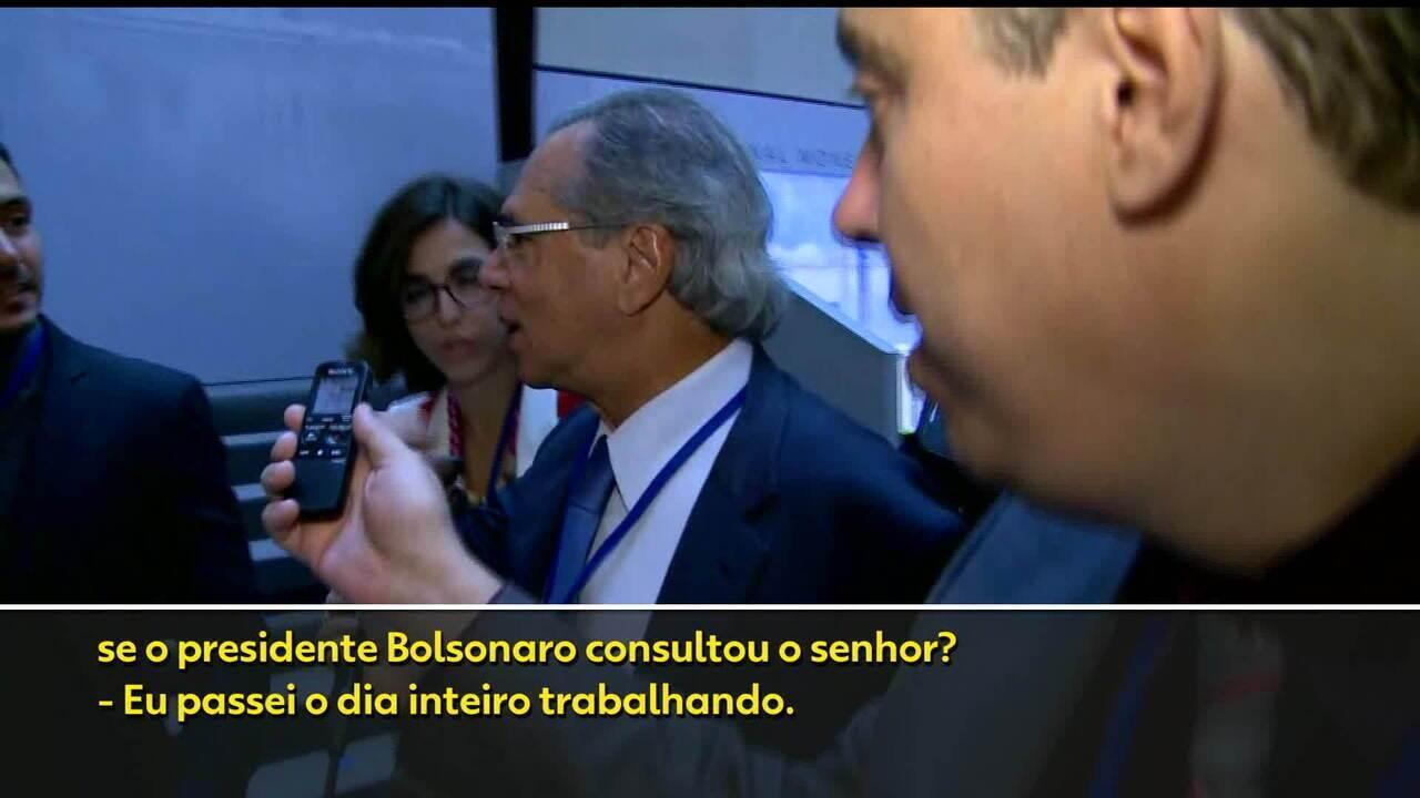 'Não tenho informação suficiente', disse Guedes na sexta-feira sobre intervenção de Bolsonaro na Petrobras