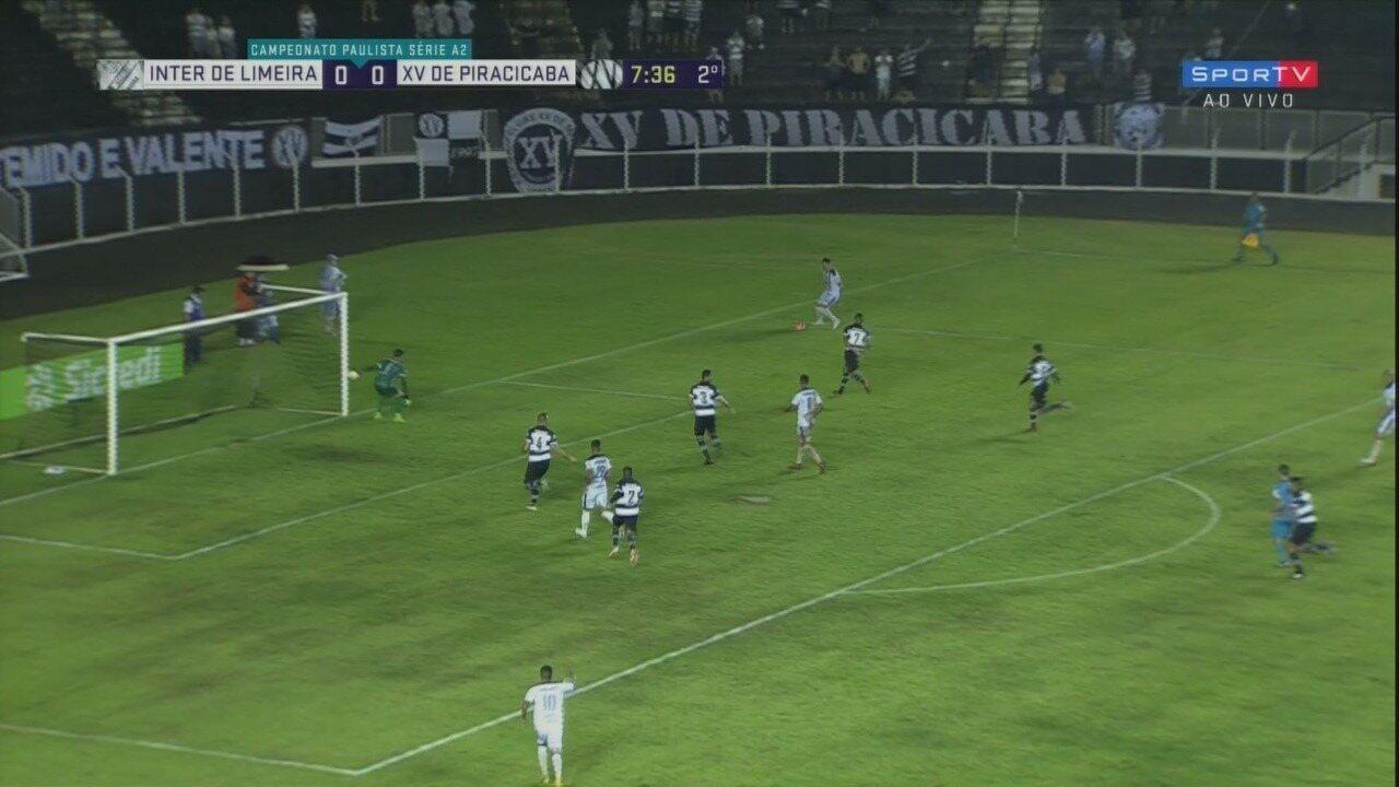 Os melhores momentos de Inter de Limeira 0x0 XV de Piracicaba pela semifinal da Série A2
