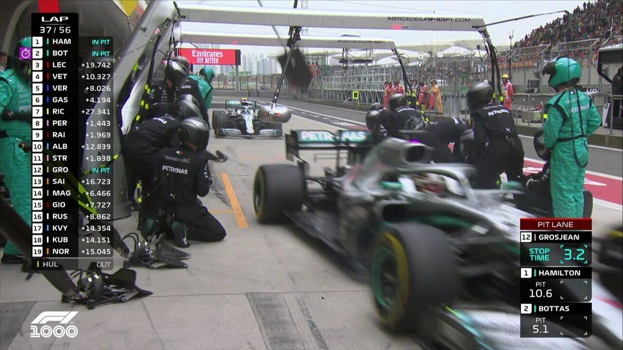 Mercedes faz pit stop duplo