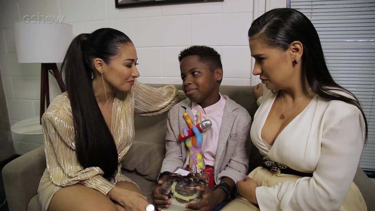 Simone e Simaria falam sobre a gravação de uma música com o campeão do The Voice Kids
