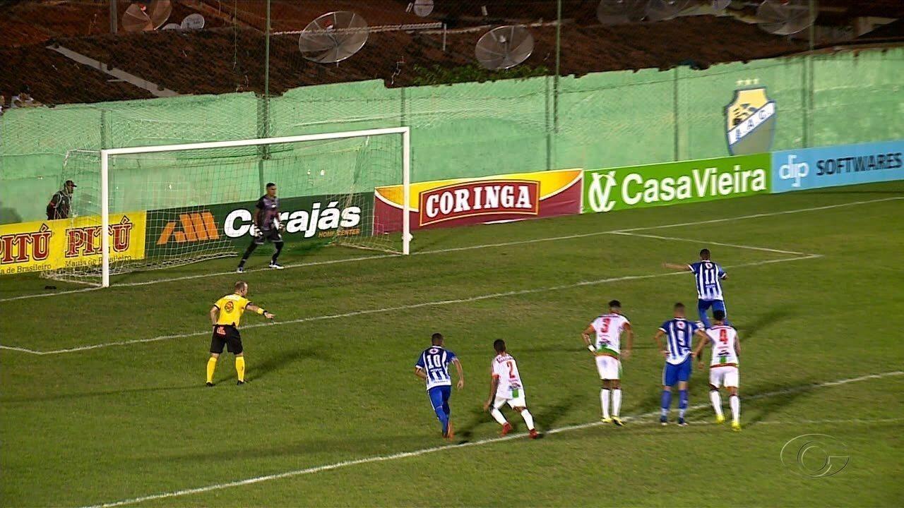 Veja os gols de Coruripe 3x2 Jaciobá, pela disputa do terceiro lugar do Alagoano