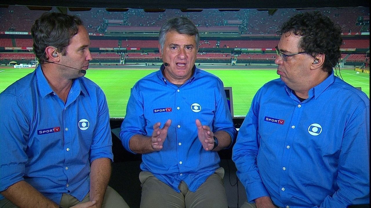 Caio Ribeiro, Cléber Machado e Casagrande analisam primeira final do Paulistão