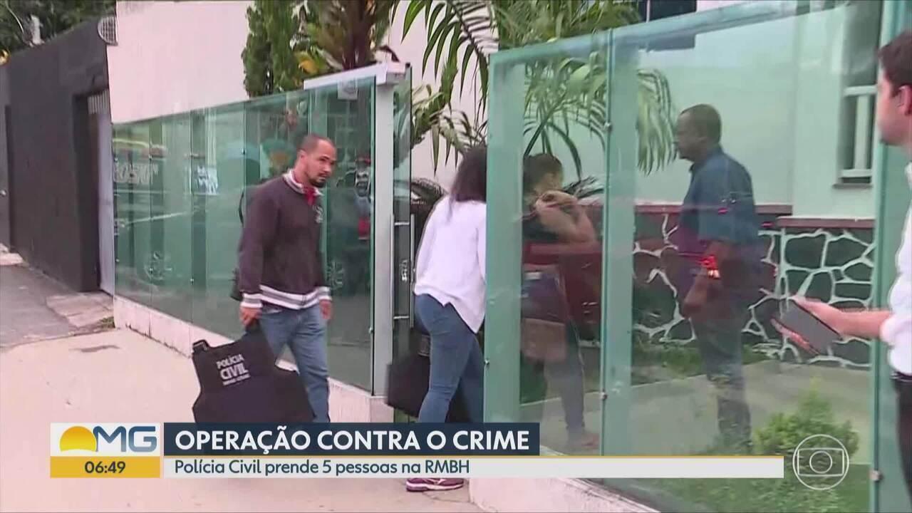 Polícia Civil prende suspeitos de integrar organização criminosa em MG e ES