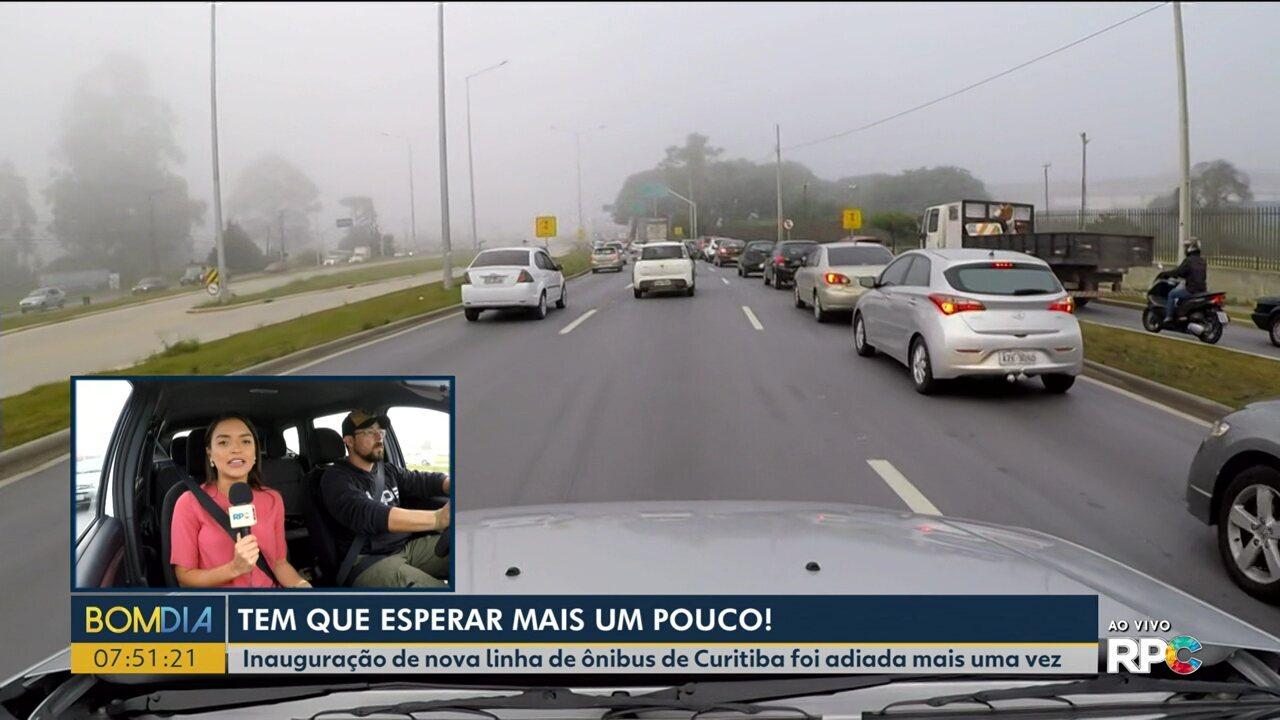 Inauguração de nova linha de ônibus de Curitiba foi adiada mais uma vez