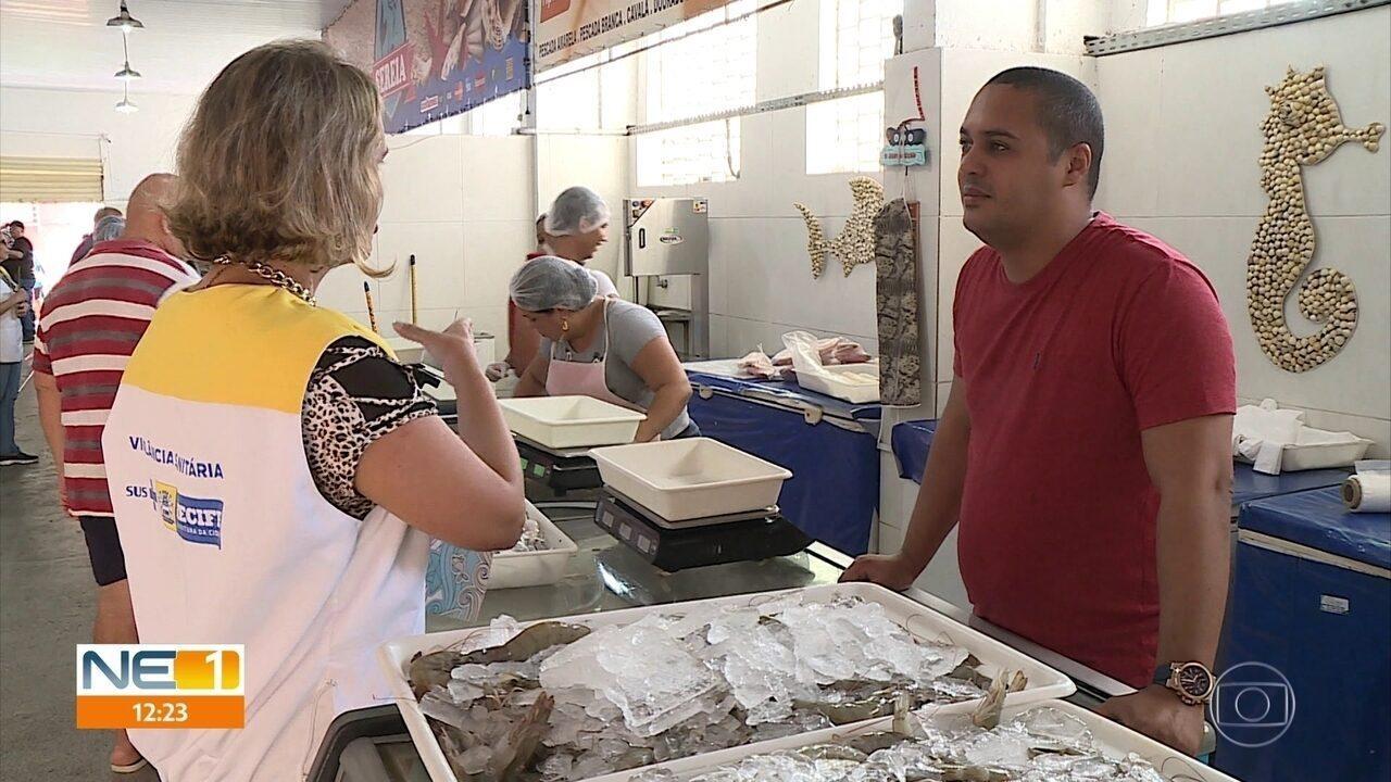 Vigilância Sanitária fiscaliza venda de peixes e crustáceos para a Semana Santa