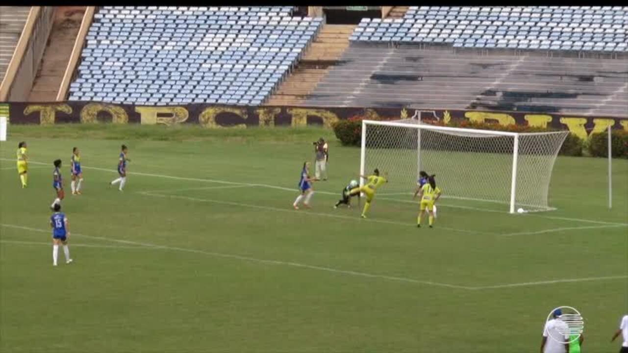 Veja os lances do empate em 1 a 1 entre Tiradentes-PI e Esmac, no Brasileiro feminino