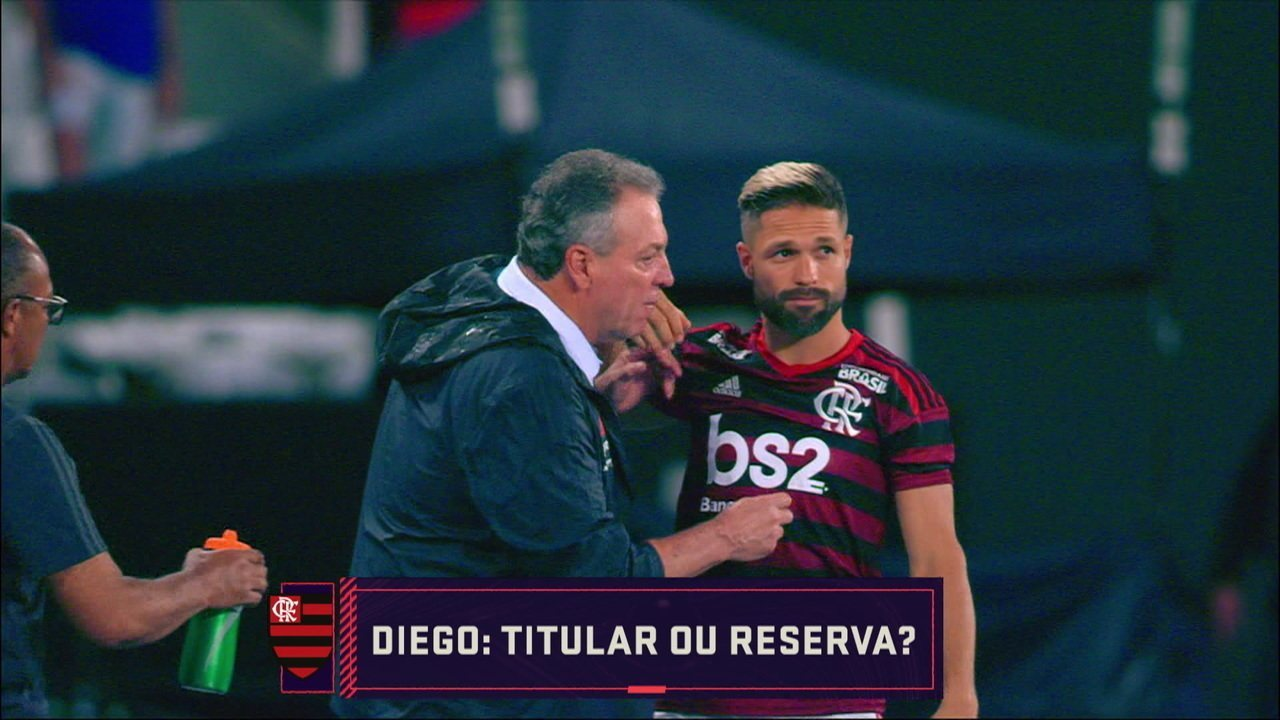 Comentaristas debatem se Diego é titular ou reserva do time do Flamengo