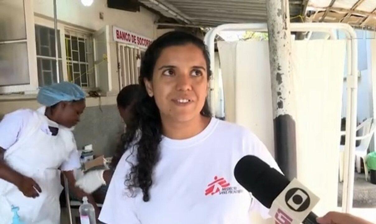 Médica brasileira ajuda no combate ao cólera em Moçambique