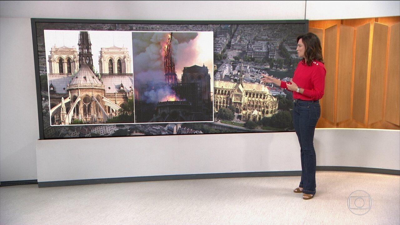 Imagens mostram a Catedral Notre Dame antes e depois do Incêndio