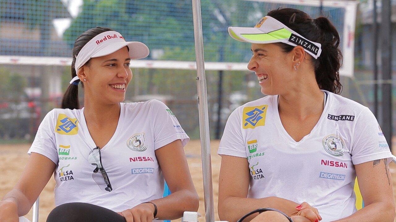 Atletas no vôlei de praia, Ágatha e Duda Lisboa se preparam para uma vaga nas Olimpíadas
