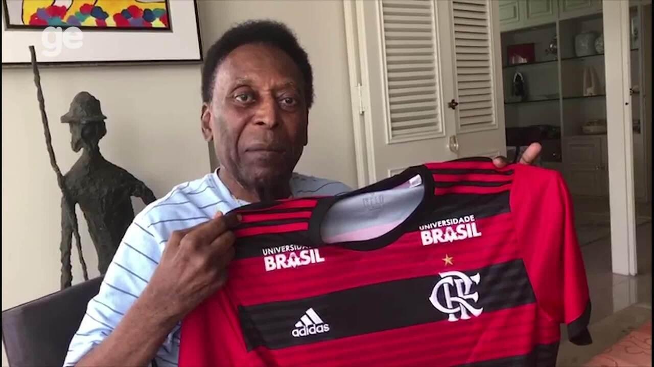 Pelé relembra de jogo pelo Flamengo que completou 40 anos recentemente